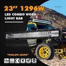 "8D 23""Inch 1296W C LED Off road Light Bar Combo Beam Work VS 7D 6D 22"""