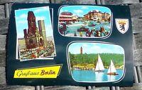 Salutations de Berlin Carte Postale 50er 60er Années Krüger 921/77 Å