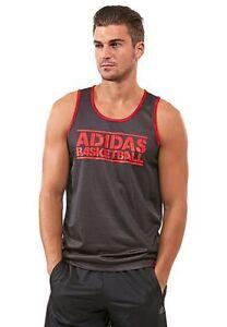 Genuine Adidas Men's GFX Reversible Mesh Basketball Jersey/ Vest