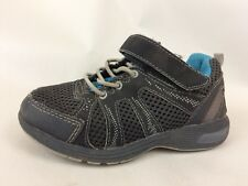 Carters Olympus Gray Blue Flex Boys 9 Toddler Sneakers Shoes Bungee Strap Casual