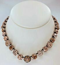 Mariana Necklace Champagne Beige Peach Pink Crystal Rhinestone Swarovski Mosaic