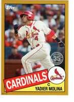 Yadier Molina 2020 Topps 1985 35th Anniversary 5x7 Gold #85-93 /10 Cardinals