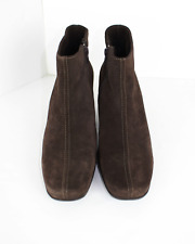 La Canadienne Suede Ankle Boots in Brown,Waterproof, Size 9M