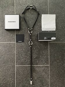 DSQUARED2 S/S 2016 Hot Harness Uni Suspenders Toy Leather Harness Collar Choker