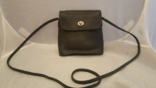 Vintage Coach 9049 Black Leather Tango Turnlock Fold Flap Crossbody Shoulder Bag