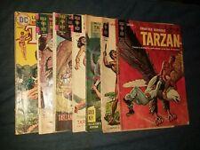 Edgar rice burroughs Tarzan 7 Issue Silver Age Comics Lot Run Set Collection