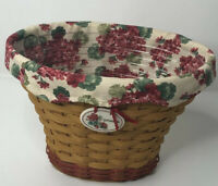 Longaberger Geranium Basket With 2 Liners Signed by Bonnie Longaberger Preowned