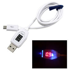 Digital LCD Micro USB Data Charging Voltage Current Cable Cord For Android Phone