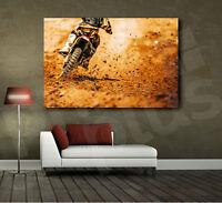 Motocross Race Motorcycle Racing Canvas Art Poster Print Home Wall Decor