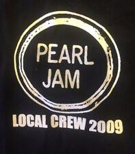 Rare Pearl Jam Local Crew T Shirt European Tour 2009 - Official XL