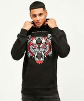 Kings Will Dream Mens New KWD Long Sleeve Hoody Sweatshirt Demon Black Red
