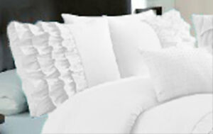 Solid Half Ruffle Pillow Sham Pair 100% Egyptian Cotton 800TC All Sizes & Colors