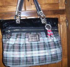 COACH Poppy Glam Tartan Plaid Tote Shoulder Bag Purse w/Hang tags 15886