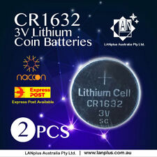 2 x CR1632 3V Lithium Batteries STOCK IN Melbourne Button Coin CR 1632 CR-1632