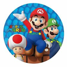Super mario Round Edible Birthday Cake Topper Frosting Sheet Decoration