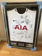 signed football shirt frame!!! 2017/18 Signed SPURS Squad