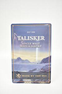 TALISKER SCOTCH WHISKY BLECHSCHILD   20 x 30 cm NEU/OVP