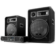Set Dj Casse PA Amplificatore Set Sound Stereo Kit Altoparlanti Cavi Audio 3 Vie