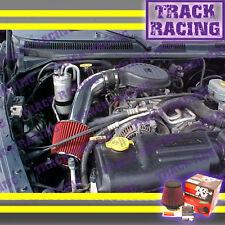 97 98-03 DODGE DAKOTA/DURANGO 3.9L V6 5.2L 5.9L V8 AIR INTAKE KIT+K&N Black Red
