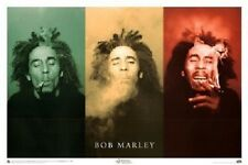 """Bob Marley (3 Faces, Smoking) Music Poster Print Motivational Art Picture 24x36"""""""