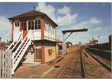 Railway Postcard - The Level Crossing Signal Box - Oakham - Rutland   Q175