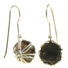Gorgeous Smokey Topaz Earrings 925 Sterling Silver Jewelry Gift Item from Bali