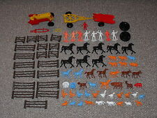 Vintage 1970s MPC Lot of 80 Plus Farm Animals, Figures & Vehicles