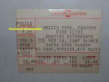 PINK FLOYD Concert Ticket Stub 1987 PONTIAC SILVERDOME David Gilmour VERY RARE