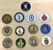 Handpainted Coin Golf Ball Marker Collection all 14 Open Championship Golf Clubs