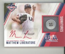 Matthew Liberatore auto jersey button card /8 2018 Stars & Stripes NM Cardinals