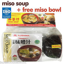 Ajishima Japanese Miso Soup  + Free Quality Japan Miso Bowl Soybean Paste Miso