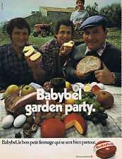 PUBLICITE ADVERTISING 064 1971 BABYBEL garden party fromage