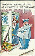 BB-192 Telephone Booth, Eh? That Ain't What We Call em, 1950s-70s Comic Postcard