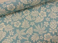 COTTON PRINT FABRIC +++ HAWAIIAN GARDEN +++ SKY