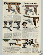 1956 PAPER AD Toy Gun Holster Wyatt Earp Rin Tin Tin Commando Sub Machine Pony