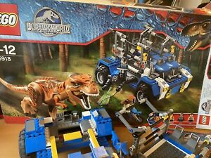 Lego Jurassic world T Rex Tracker 75918 100% Complete With Box Immaculate