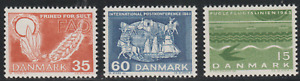 Denmak 1963 SC# 406 - 408 - Three different stamps - M-NH Lot # 017