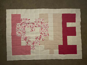 """""""Love"""" Quilt Top, Flannel. Large"""