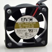 For AVC DC Cooling Fan 40x40x10mm D4010B12M 12V Ball 3-Pin CPU Fan 2Wire Leads