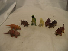 Vintage 1986 Lot 8   Dormei Toy? Dinosaur Plastic China T-rex, ! glow in the dar