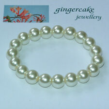 Pearl Beaded Costume Bracelets without Metal