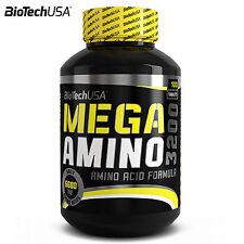 MEGA AMINO 3200 100 Tablets Amino Acids Anabolic Anticatabolic Bodybuilding
