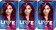 3 X Schwarzkopf Live Color XXL L76 Ultra Violet