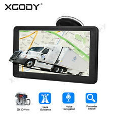 "XGODY 7"" SAT NAV GPS NAVIGATION for Car Truck HGV Motorhome W/ 2D/3D Map 8GB-ROM"