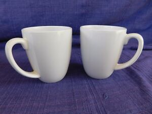 Corelle Stoneware Solid White (2) SET of TWO MUGs have more items to set