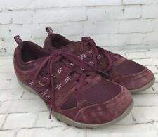 Skechers Relaxed Fit Memory Foam Burgundy Trainers Shoes Size 5