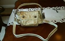 COACH POPPY STORYPATCH GROOVY METALLIC GOLD HANDBAG, CROSSBODY, #15302, NWT