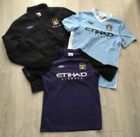 Boys kids bundle Manchester City jacket football shirts size XLB/158 Umbro