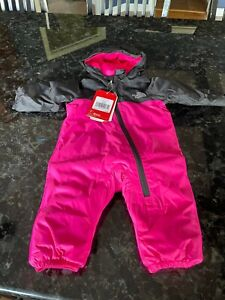 NWT The North Face Tailout One Piece MR Pink 3-6 months Infant Girl Snowsuit