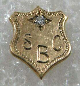 ARTISAN 14K GOLD DIAMOND .02 TCW HANDMADE Vintage SBC TIE TAC Estate @ Market